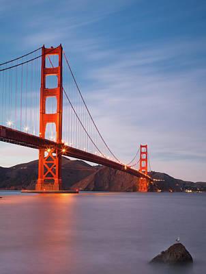 Golden Gate Photograph - Bridge Over Milky Bay by Sean Duan