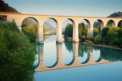 Bridge Over The River Durance In Sisteron, France Print by Kirill Rudenko