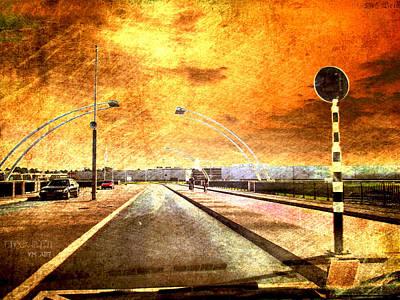 Bridge Over Troubled Water  Print by Yvon van der Wijk