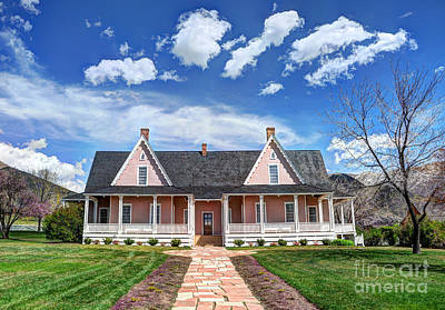 Brigham Young Forest Farm Home Print by Gary Whitton