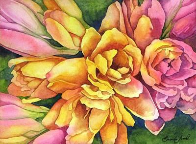 Bright Blooms Original by Brenda Jiral