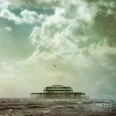 Flypaper Textures Photograph - Brighton Seascape by Paul Grand