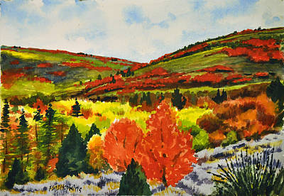 Phil Hopkins Painting - Brilliant Fall Colors by Phil Hopkins