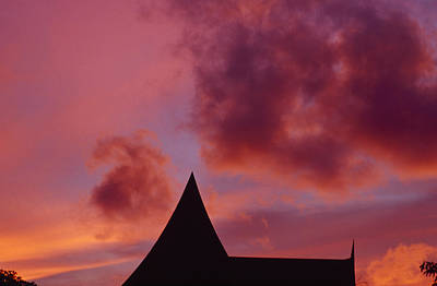 Brilliant Red And Burgundy Sunset Print by Jason Edwards