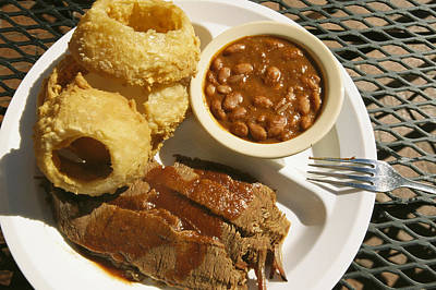 Brisket, Beans, & Rings At Famous Sonny Print by Richard Nowitz