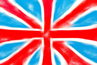 England Photograph - British Flag by Tom Gowanlock