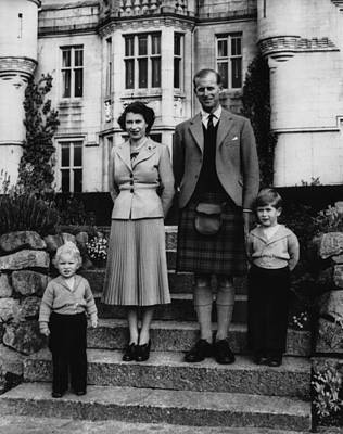 British Royal Family. From Left Anne Print by Everett
