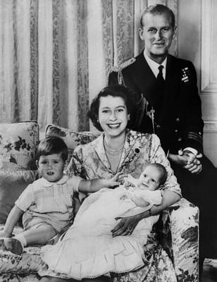 British Royal Family. From Left Future Print by Everett