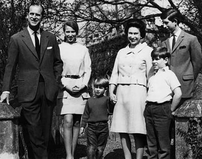 British Royal Family. From Left Prince Print by Everett