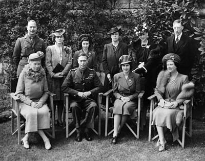 British Royal Family. Seated, From Left Print by Everett