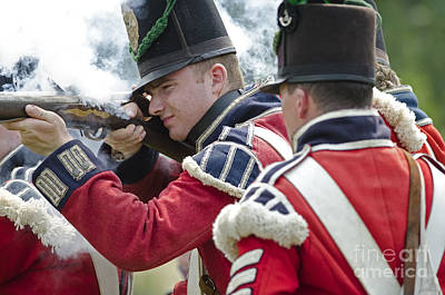 British Soldier Shooting Print by JT Lewis