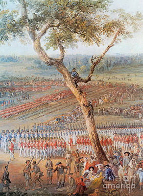 British Troops Surrender At Yorktown Print by Photo Researchers