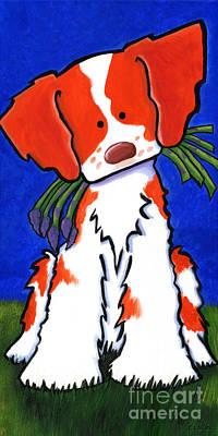 Asparagus Painting - Brittany Asparagus Spears by Kim Niles