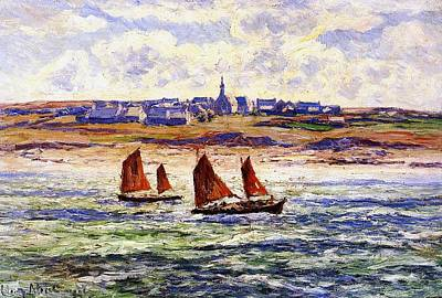 Boat On Beach Painting - Brittany by Henry Moret
