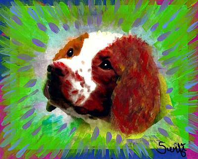 Dog Painting - Brittany Spaniel by Char Swift