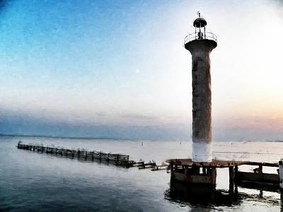 Ruins Mixed Media - Broadwater Lighthouse by Scott Crump
