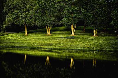 Broemmelsiek Park Green Print by Bill Tiepelman