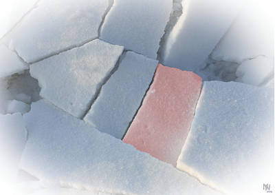 Caspar Digital Art - broken snow III by Nafets Nuarb