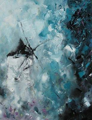 Painting - Broken Windmill. by Cima Azimi