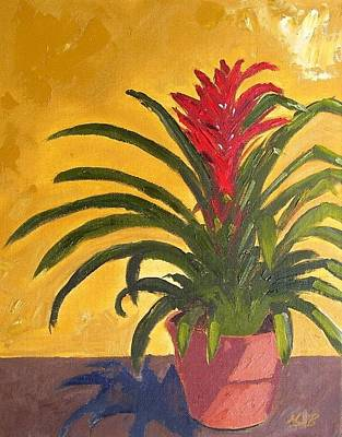 Painting - Bromeliad  by Maria Soto Robbins