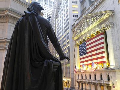 Bronze Statue Of George Washington Print by Justin Guariglia