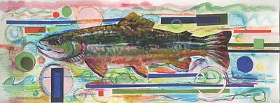 Brook Trout 1 Original by Michelle Grove