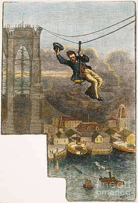 Brooklyn Bridge Mechanic Print by Granger