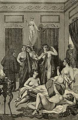 Brothel In Ancient Greece. 19th Century Print by Everett