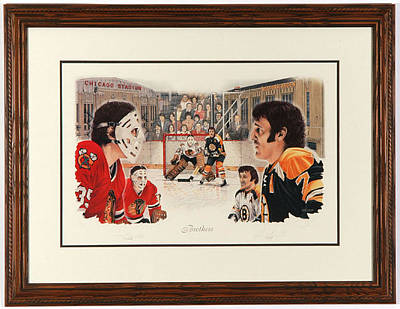 Art Of Hockey Mixed Media - Brothers Limited Edition by Daniel Parry