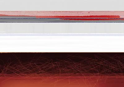 Brown Horizon Print by Naxart Studio