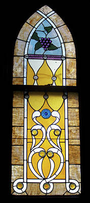 Brown Stained Glass Window Print by Thomas Woolworth