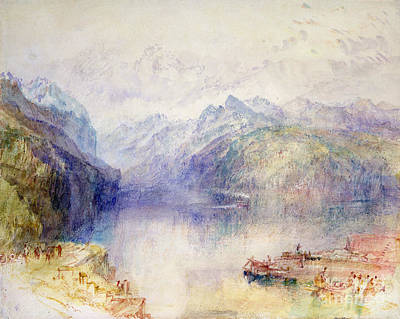 Lucerne Painting - Brunnen  by Joseph Mallord William Turner