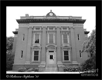 Brunswick Historical Court House Print by Rebecca Stephens