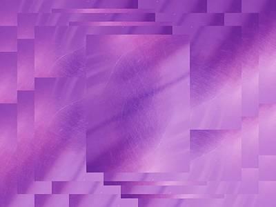 Brushed Purple Violet 7 Print by Tim Allen