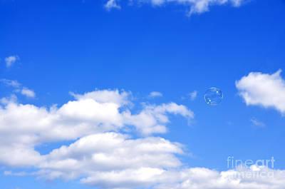 Bubble In Air Print by Thomas R Fletcher