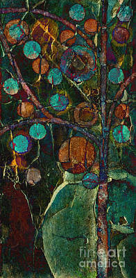Red Abstract Painting - Bubble Tree - Spc01ct04 - Left by Variance Collections