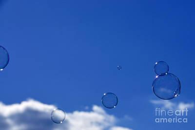 Bubbles In Air Print by Thomas R Fletcher
