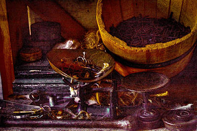 History Photograph - Bucket Of Nails And Stuff by David Patterson
