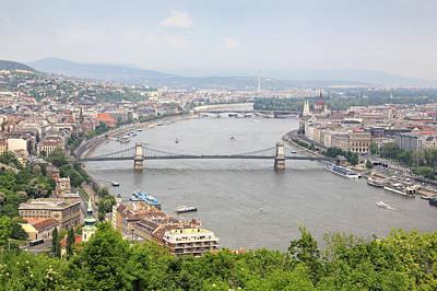 Budapest Photograph - Budapest With Chain Bridge by Romeo Reidl