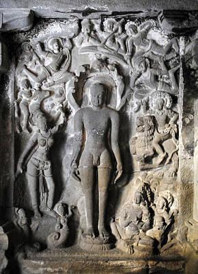 Architecture Photograph - Buddha At Elora Caves India by Sumit Mehndiratta