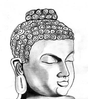 Shashi Kumar Drawing - Buddha by Shashi Kumar