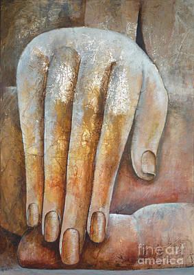 Buddha Painting - Buddha's Hand by Paulina Garoa