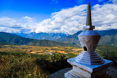 China Photograph - Buddhist Tower In Zhengjue Temple, Yunnan China by Feng Wei Photography