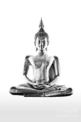 Buddism Statue Isolated Print by Mongkol Chakritthakool