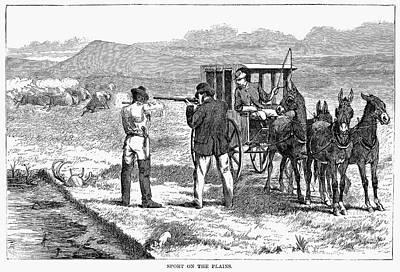 Buffalo Hunting, 1874 Print by Granger
