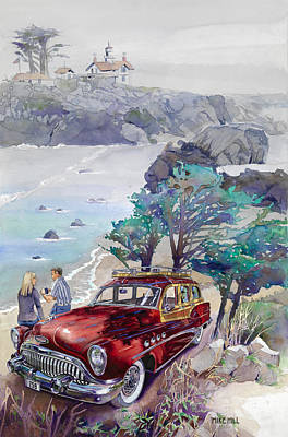 Buick Painting - Buick At Battery Point by Mike Hill