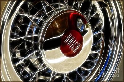 Classic Woodie Digital Art - Buick Wheel by Katja Zuske