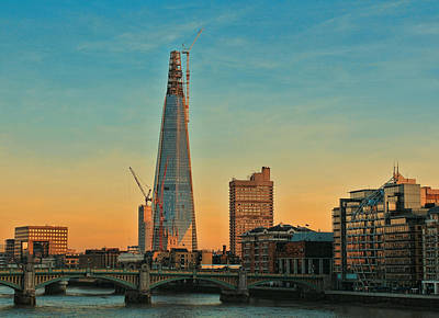 London Skyline Photograph - Building Shard by Jasna Buncic