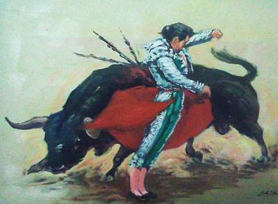 Bull Fighter 3 Print by Baez