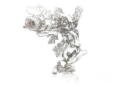 Bumblebee Drawing - Bumblebee by Hywel Morgan